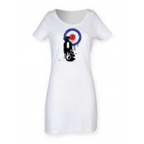 Mod Target Scooter White T Shirt Dress