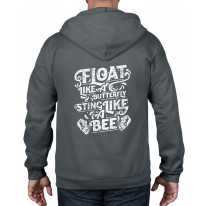 Float Like A Butterfly Sting Like A Bee Boxing Full Zip Hoodie