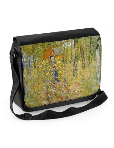 Gustav Klimt Farm Garden with Crucifix Laptop Messenger Bag