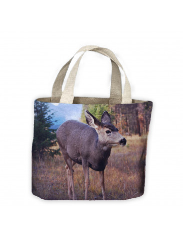 Deer in Woodland Tote Shopping Bag For Life
