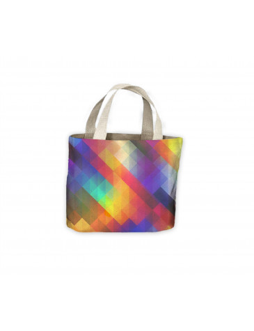 Abstract Colour Squares Tote Shopping Bag For Life