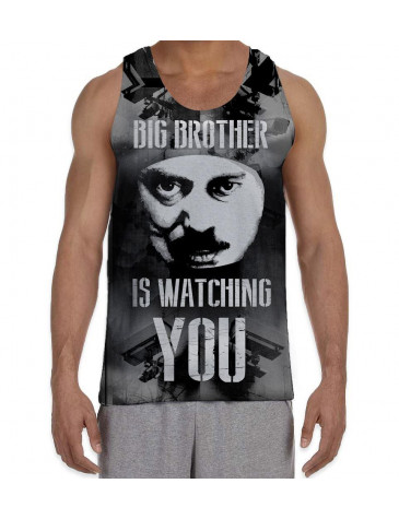 Big Brother is Watching You Men's All Over Print Graphic Vest Tank Top
