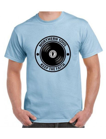 Northern Soul Keep The Faith Record Men's T-Shirt