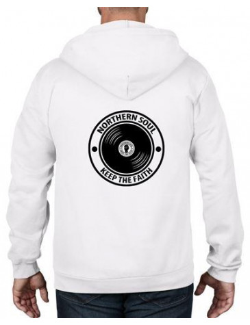 Northern Soul Keep The Faith Record Full Zip Hoodie