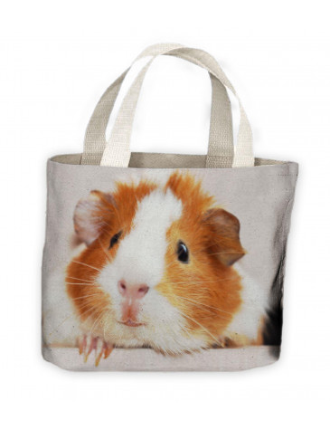 Guinea Pig Face Tote Shopping Bag For Life