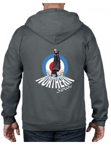 Northern Soul Dancer Mod Target Full Zip Hoodie