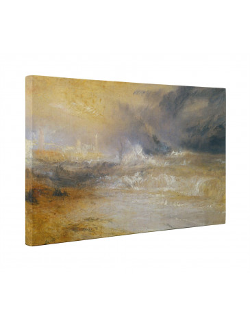 William Turner Waves Breaking On A Lee Shore Box Canvas Print Wall Art - Choice of Sizes