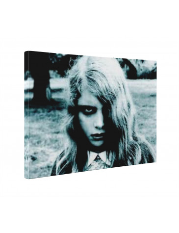 Night of the Living Dead Zombie Girl Box Canvas Print Wall Art - Choice of Sizes