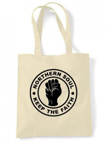 Northern Soul Keep The Faith Shoulder Bag