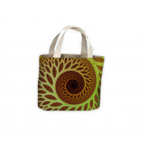 Spiral Leaves Pattern Tote Shopping Bag For Life