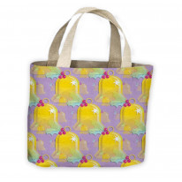 Christmas Bells Pattern Tote Shopping Bag For Life