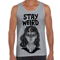 Stay Wierd Witch Girl Hipster Large Print Men's Vest Tank Top