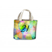 Birthday Watercolour Balloons 21st Gift Celebration Tote Shopping Bag For Life
