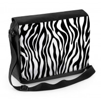 Zebra Stripe Pattern Laptop Messenger Bag
