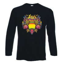 Psychedelic Cannabis Long Sleeve T-Shirt