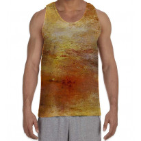 William Turner Sun Setting Over Lake Men's All Over Graphic Vest Tank Top