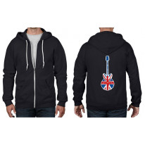 Union Jack Guitar Full Zip Hoodie