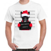 Bad Santa Claus Pug Dog Men's Christmas T-Shirt