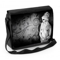 Day of the Dead Girl Nude Laptop Messenger Bag