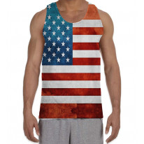 American Stars and Stripes Men's All Over Graphic Vest Tank Top
