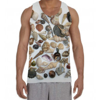 Shells from the Sea Beach Men's All Over Graphic Vest Tank Top