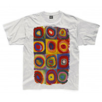 Wassilly Kandinsky Colour Study Square With Concentric Circles Large Print Kid's T-Shirt