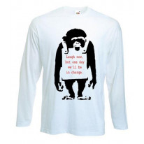 Banksy Laugh Now Monkey Long Sleeve T-Shirt