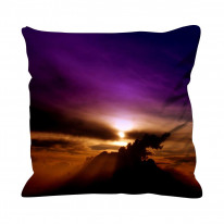 Violet Sunset Faux Silk 45cm x 45cm Sofa Cushion