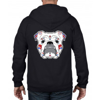 British Bulldog Sugar Skull Full Zip Hooded Sweatshirt Hoodie