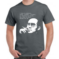 Hunter S Thompson Drugs Quote Men's T-Shirt