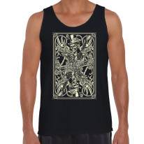 Skeleton Playing Card Men's Tank Vest Top