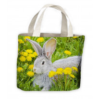 Rabbit In Grass Tote Shopping Bag For Life