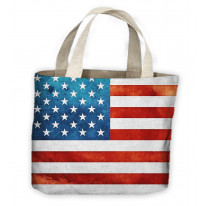 American Flag Stars And Stripes Tote Shopping Bag For Life