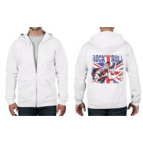 Union Jack Rock n Roll Full Zip Hoodie