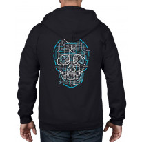 Electric Skull Full Zip Hoodie