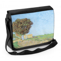 Van Gogh A Lane Near Arles Laptop Messenger Bag