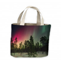 Northern Lights Woodland Tote Shopping Bag For Life
