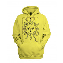 Sun Design Men's Pouch Pocket Hoodie Hooded Sweatshirt