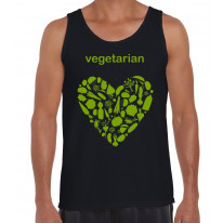 Vegetarian Heart Logo Men's Tank Vest Top