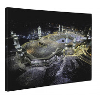 Mecca at Night Box Canvas Print Wall Art - Choice of Sizes