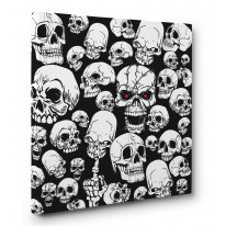 Skull Garden Box Canvas Print Wall Art - Choice of Sizes