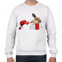 Rabbits In A Box Christmas Men's Jumper \ Sweater