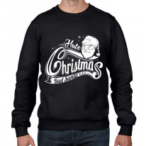Hate Christmas Bad Santa Claus Bah Humbug Men's Sweater \ Jumper