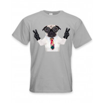 Pug Dog With Goggles Men's T-Shirt