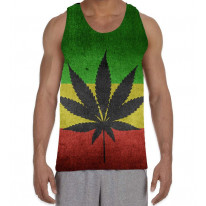Cannabis Rasta Flag Men's All Over Graphic Vest Tank Top