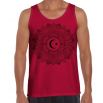 Islamic Crescent Mandala Large Print Men's Vest Tank Top