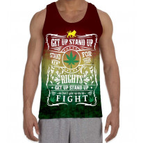Bob Marley Get Up Stand Up Men's All Over Graphic Vest Tank Top