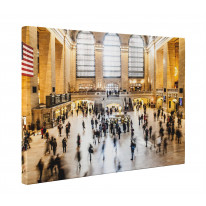 New York Grand Central Station Box Canvas Print Wall Art - Choice of Sizes