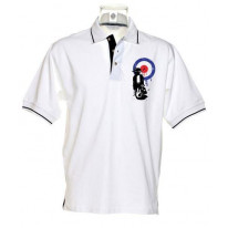Mod Target Scooter Tipped Polo T-Shirt