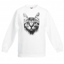 Hypnotised Cat Children's Unisex Sweatshirt Jumper